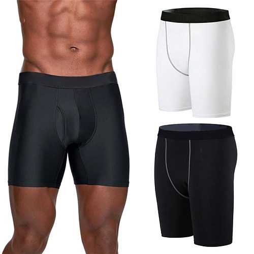 Men Compression Short Running Tights Men's Quick Dry Gym Fitness Sports Legging Running Shorts Male Underwear Sport Shorts