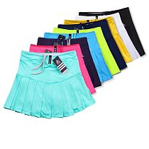 New Girls Tennis Skirts with Safety Shorts , Quick Dry Women Badminton Skirt , Female Tennis Skorts , Girl Sport Running Shorts