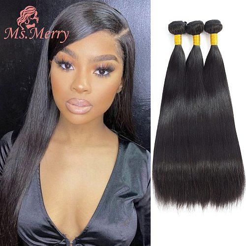 Hair Bundles Straight/Body Wave Hair Weave Bundles 100% Natural Brazilian Hair Weave Bundles Remy Human Hair for Black Women