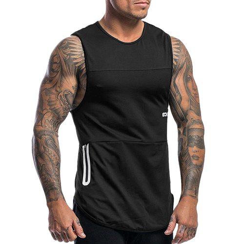 2020 Gyms Workout Sleeveless Shirt Running Tank Top Men Bodybuilding Clothing Fitness Mens Sportwear Vests Muscle Men Tank Tops