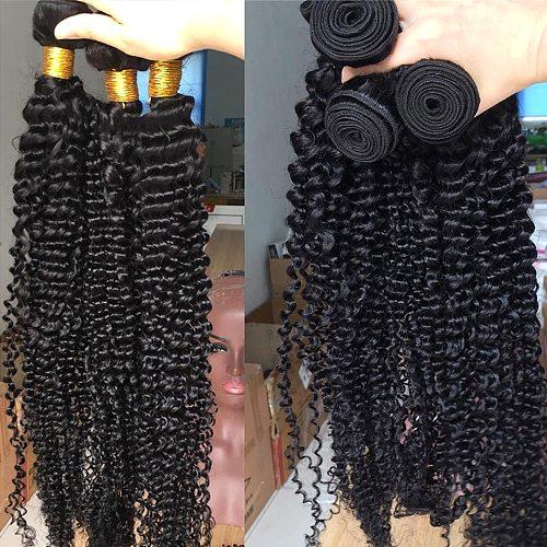 Missblue Brazilian Hair Weave Bundles Deep Wave Natural Curly Human Hair Bundles Remy Hair Extensions 30 38 Inches Virgin Water