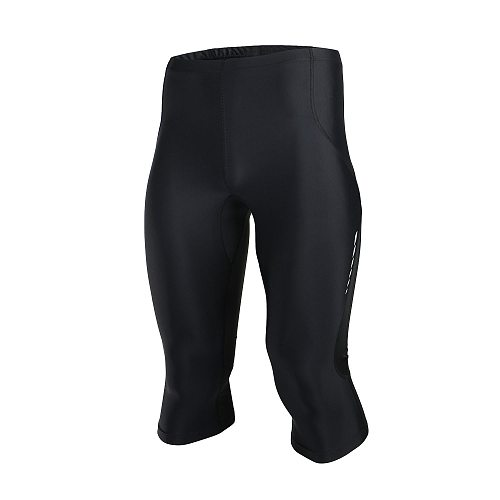 Brand Summer Men's Reflective Running Shorts Tights Quick Dry Compression Gym Fitness Training Sports  Leggings 3/4 Length Pants