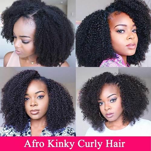 100% Human Hair Bundles Afro Kinky Curly Bundles Natural 8-20 inch Mongolian Wholesale Bundles Bulk Remy Hair Extension Vrvogue