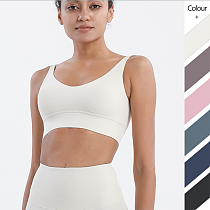 Vnazvnasi Push Up Padded Gym Fitness Bras Crop Tops Yoga Suit Female Sportswear Soft Stretchy 80% Nylon 20% Spandex Women Tops