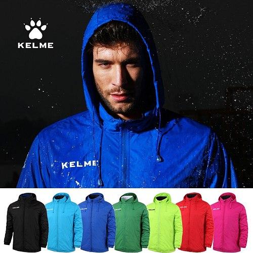 KELME Men's Hidden Hoodie Jacket Autumn Football Sports Training Jacket  Windproof And Waterproof  Outdoor Tracksuit K15S604