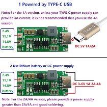 Multi-Cell 2S 3S 4S Type-C To 8.4V 12.6V 16.8V Step-Up Boost LiPo Polymer Li-Ion Charger 7.4V 11.1V 14.8V 18650 Lithium Battery
