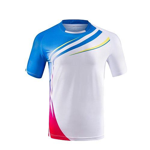 Free print Men/women badminton t-shirts,Men Table Tennis t shirt,Women tennis shirt Running shirt Short Sleeve volleyball shirts