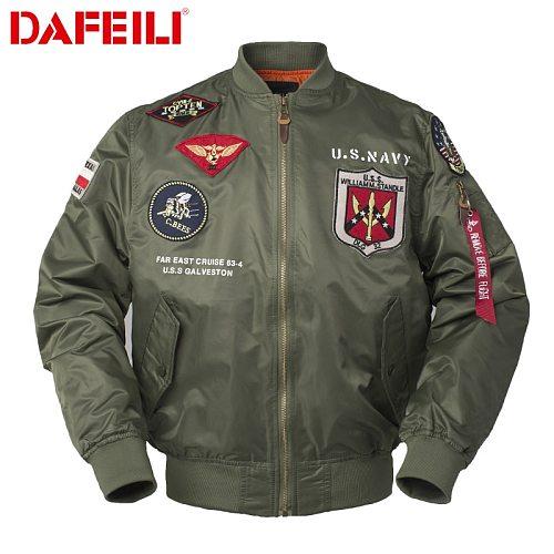Autumn Top gun Us navy MA1 letterman varsity baseball Pilot air force flight hunting tactical military army jacket men clothes