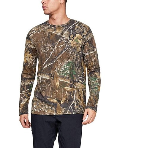 Discount!  Men's Hunting Shirt Camouflage T Shirt Sports Hiking Outdoor Man Shirt Quick Dry Moisture Wicking USA Size L-4XL