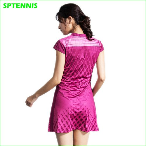 Girls Pleated Tennis Dress With Shorts Junior Netball Dress Woman Deuce Dress For Sports Training