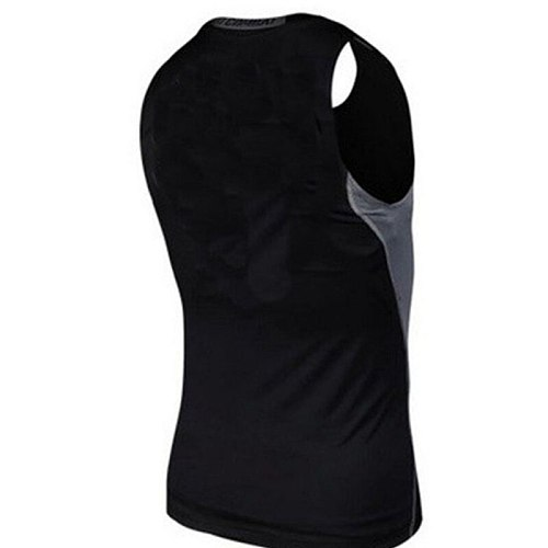 Hot Sale Men Fitness GYM Base Layer Top Compression Sleeveless Sports Tight Shirts