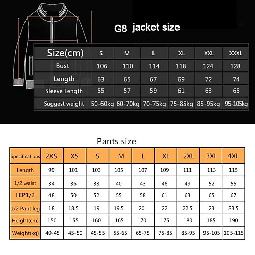 Men Outdoor G8 Airsoft Hunting Suit Jacket Set with Pants Camouflage Military Army Tactical Uniform Combat Pants Hunting Clothes