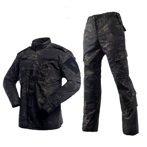 HAN WILD Camping Uniform Camouflage Suit Tatico Tactical Military Jacket+pants Camouflage Airsoft Paintball Cloth Traje Militar