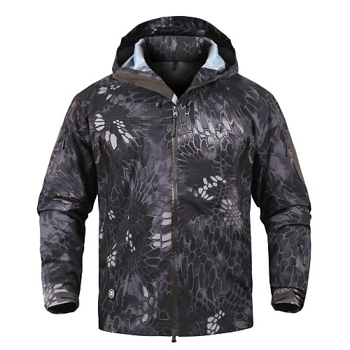 Military Gear Waterproof Hardshell Outdoor Jacket Men Army Tactical Jacket Spring Windbreaker Coat Camouflage Hunting Clothes