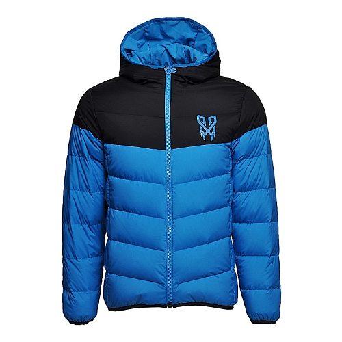 Li-Ning Men Badminton Short Down Coat Rechargeable 90% White Duck Down Warm Heating Jackets LiNing li ning Blue Coats AYML053
