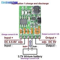 DC 5V 3.7V 5V to 12V DC 12V 2in1 Lithium Battery Charger Discharger Board DC-DC Converter Step-up Module for IP PTZ Camera UPS
