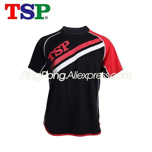 TSP Table Tennis T-shirts for Men / Women 83502 Ping Pong Jerseys Cloth Sportswear Training T-Shirts