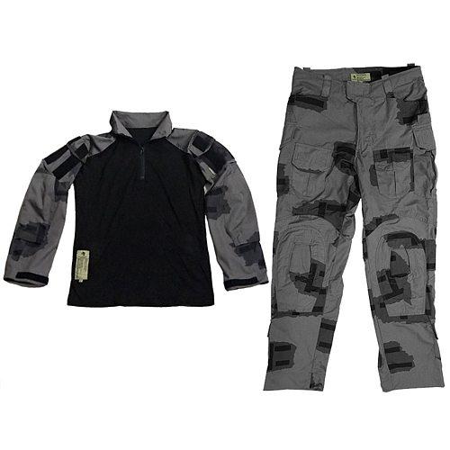 Black Gunpowder/BG T-block Outdoor Tactical Full Set Combat Clothes - S/M/L/XL/XXL
