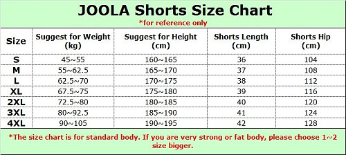 JOOLA 655 Table Tennis Shorts for Men / Women Ping Pong Clothes Sportswear Training Shorts
