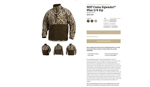 2018 sitex MST Camo Windproof Layering Vest