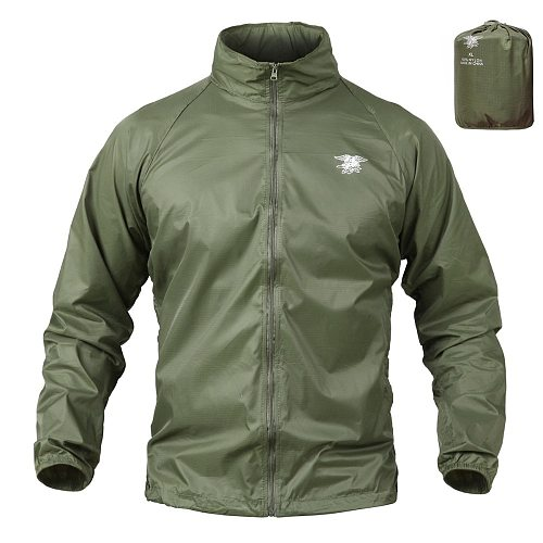 Tactical Jacket Navy Seal Lightweight Camouflage Jacket Men Waterproof Thin Hood Raincoat Windbreaker Military Army Skin Jackets
