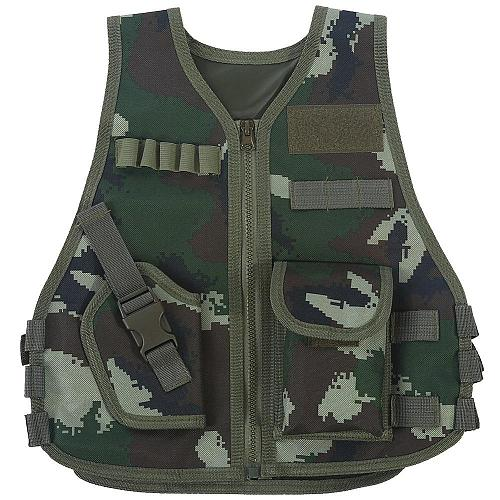 Children Combat Vest Kids Camouflage Hunting Clothes CS Shooting Protection Gear Combat Training Hunting Tactical Waistcoat