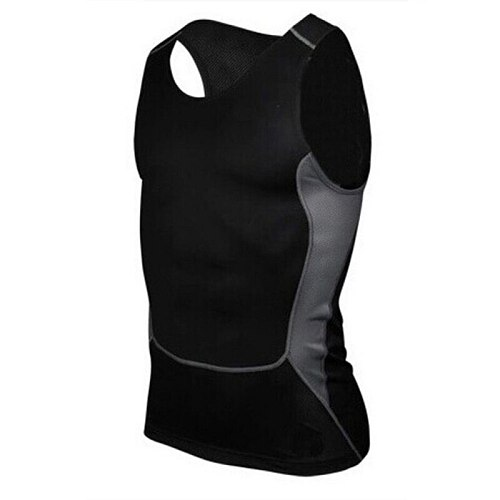 Men's Quick-Drying Sports & Fitness Sports T shirt Compression Sleeveless Breathable Sports Tight-Fitting Shirt