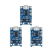 5PCS 5V 1A Micro USB 18650 Lithium Battery Charging Board Charger Module+Protection Dual Functions TP4056