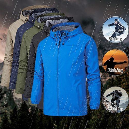 SFIT Men's Hiking Hooded Jackets Outdoor Sports Thin Hoodies Windbreaker Camping Climbing Trekking Fishing Male Coats