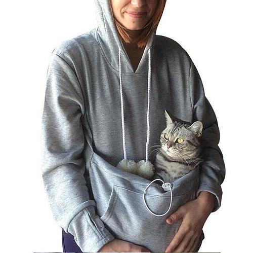 Sweatshirt Cat hoodie Pet Casual Unisex cat kangaroo pocket hoodie Sweatershirts Cat Casual Hoodie Sweater shirts Adult Version