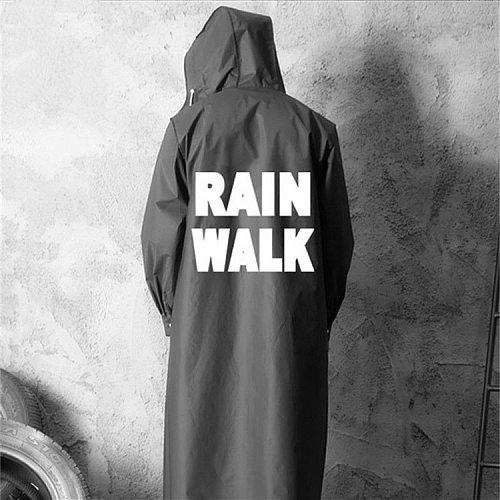 Hunting Jacket EVA Black Red Raincoat Alan Walker Pattern Outdoor Men's Long Style Hiking Ride Poncho Environmental Rain Coat
