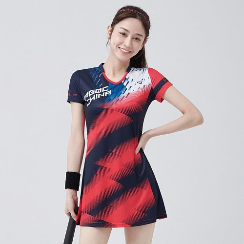 New Tennis Dress Badminton Uniform Dress Suit Ladies Look Thin Sportswear Tennis Workout Clothes