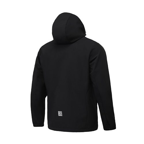 Li-Ning Men Training Sports Windbreaker Water Repellent Hooded Jacket Regular Fit 100%Polyester LiNing Exercise Coat AFDR057