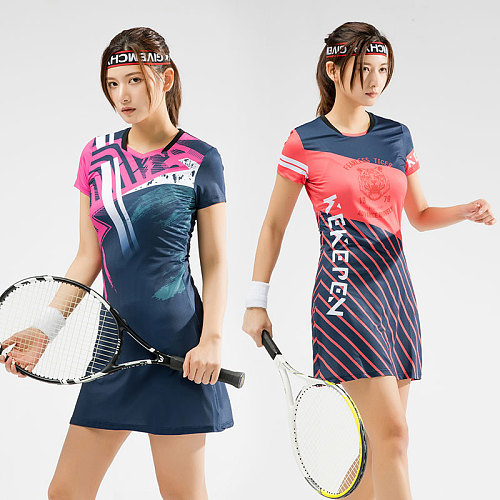 2021New Women Girls Sports Dress + Inner shorts Ladies Tennis Dresses With Shorts Gym Running Sportswear Badminton Dress Clothes