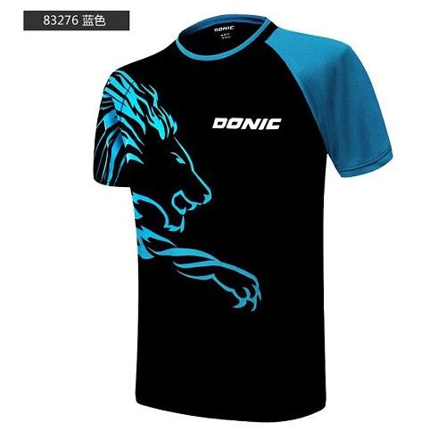 DONIC Summer Sports Short Sleeve Men Women Breathable T-shirt Table Tennis Clothing Badminton Clothing