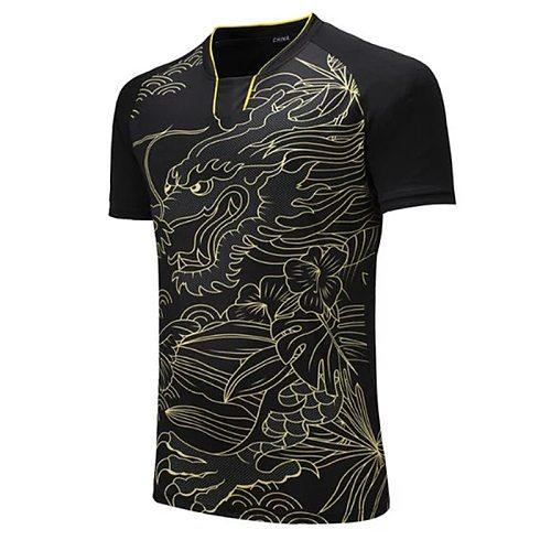 CHINA Dragon Team table tennis shirt Men / Women,  Tennis t-shirts ,sports golf Pol o shirt , pingpong sports t-shirt 202#