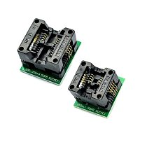 SOIC8 SOP8 to DIP8 Wide-body Seat Wide 150/200mil Programmer Adapter Socket Blue SA602 IC Test Conversion Burner