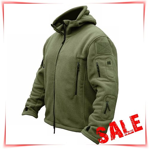 Tactical Hunting Apparel for Men  Solid Thermal Winter Jacket  Military Jacket  Hunting Clothes Soft Breathable Hooded Coat