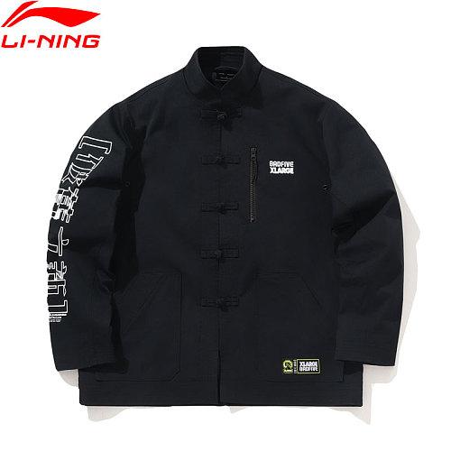 Li-Ning Men BADFIVE x XLARGE Loose Jacket Polyester Knot Button Pockets LiNing li ning Sports Leisure Streetwear AFDP491