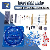 Rotating LED Display Alarm Electronic Clock Module Water Lamp DIY Kit Light Control Temperature DS1302 C8051 MCU STC15W408AS