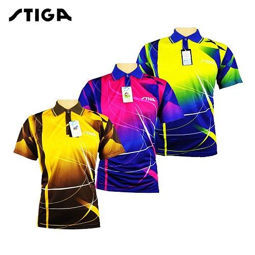 STIGA Table tennis clothing  sport Shirts T-shirt short sleeved shirt ping pong Jersey clothes Sport Jerseys