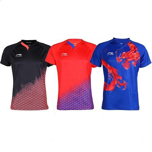 2019 Li-ning Table Tennis Clothing National Team Men Women Short-sleeved World Table Tennis Competition Sportswear Jersey