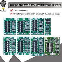 3S/4S 20 40A 60A Li-ion Lithium Battery Charger Protection Board 18650 BMS Drill Motor 11.1V 12.6V/14.8V 16.8V Enhance/Balance