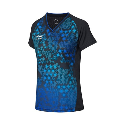 Lining Women Table Tennis Match Clothes Conventional T-shirt Quick-drying Comfortable Breathable Shirt AAYM232