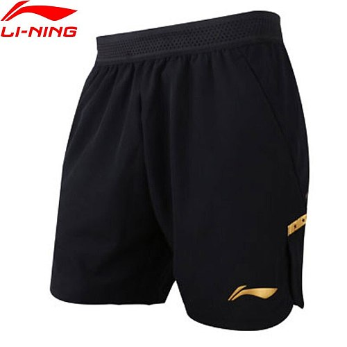 Li-Ning Men Table Tennis Shorts National Team Sponsor Breathable Regular Fit LiNing Competition Sports Shorts AAPN295