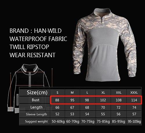 HAN WILD Men's Outdoor Hunting Tactical Shirts Air Soft Combat Tee Shirts Breathable Army Military Shirts Gray Hunting T-shirt