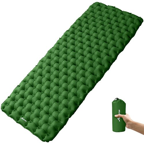 MOVTOTOP 1PC Portable Inflatable Sleeping Pad Lightweight Camping Padding Mattress for Hiking Outdoor Activities (190x68x6cm)