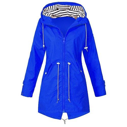 New Women's Raincoat Transition Jacket SunsetAutumn Winter Rain Coat Hiking Jacket Outdoor Camping Hiking Jackets Coats Female