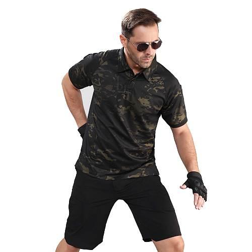 2021 Combat Woodland Tactical Shirt Short Sleeve Combat Shirt Hunting Camouflaged Large Size Army Man's T-shirt 5xl Fishing P-28