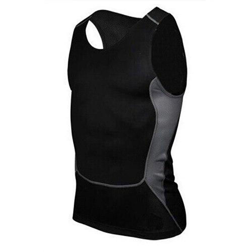Men Sleeveless Sport Vest Man Compression Sport Tight Shirt Base Layer Boy Gym Exercise Slim Vest Tops S-XXL